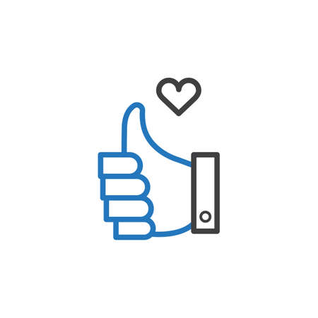 thumbs up with heart
