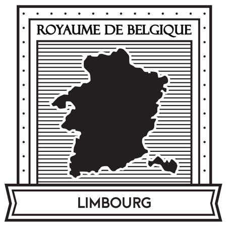 Mapa de limbourg Foto de archivo - 81534714