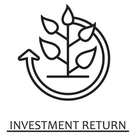 投資リターンの概念。