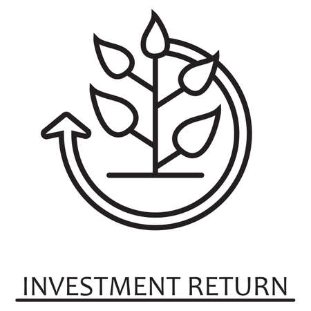 Investment return concept.