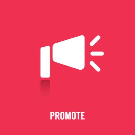 Promote icon. Illustration