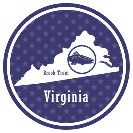 virginia state map with brook trout
