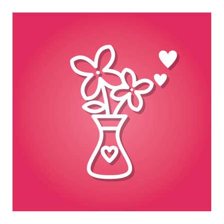 flower vase Ilustração