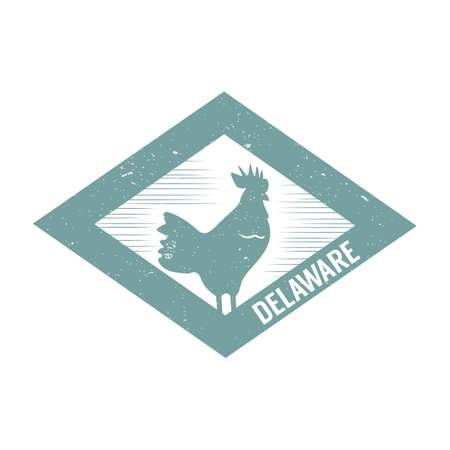 blue hen Ilustrace