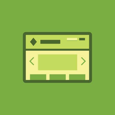 webbrowser Stock Illustratie