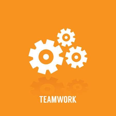 conceito de trabalho em equipe Ilustración de vector