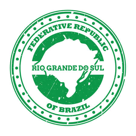 rio grande do sul map stamp