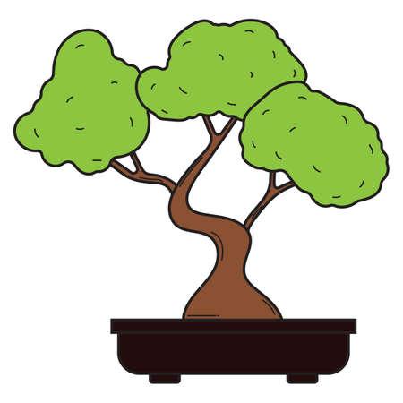盆栽  イラスト・ベクター素材