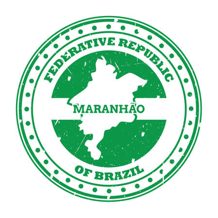 maranhao map stamp