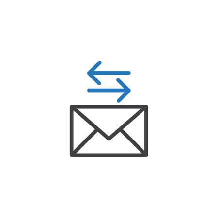 メッセージの転送  イラスト・ベクター素材