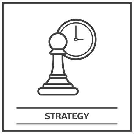 Strategie concept Stock Illustratie