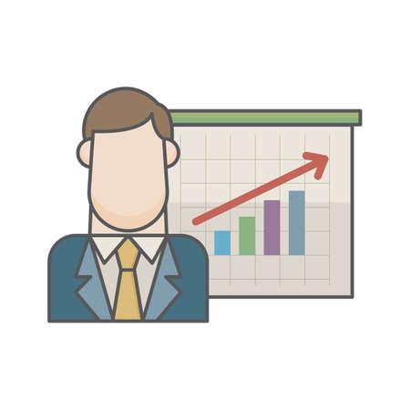実業家と進捗状況のグラフ