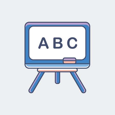 Een schoolbordillustratie. Stock Illustratie