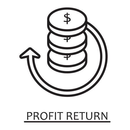 profit return concept Çizim