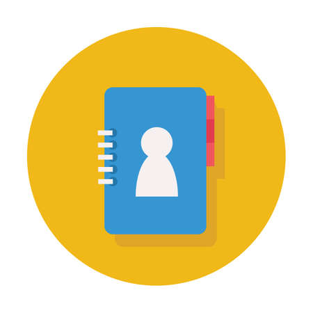contact book icon Ilustrace