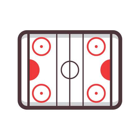 hockey rink Ilustracja