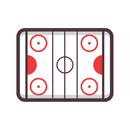 hockey rink Illustration