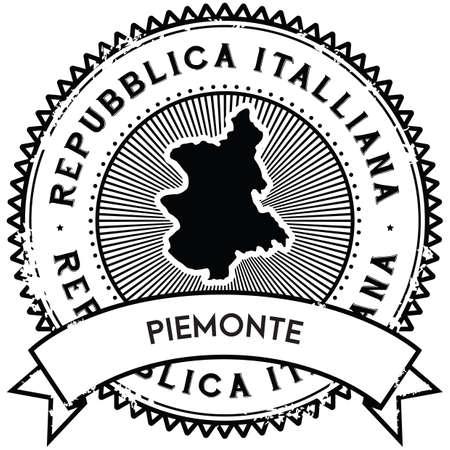 piemonte map label