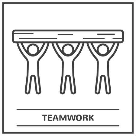 Teamwork concept Ilustração