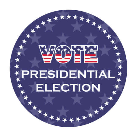 us presidential election vote sticker Banco de Imagens - 106667607