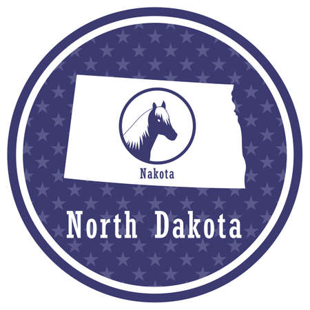 north dakota state map with nakota
