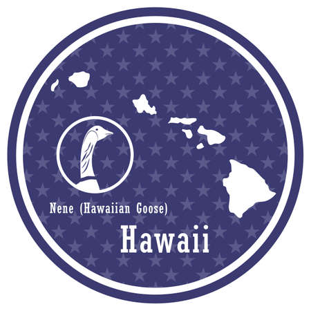 hawaii state map with nene