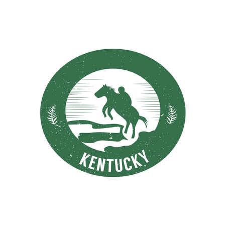 horse racing Illusztráció