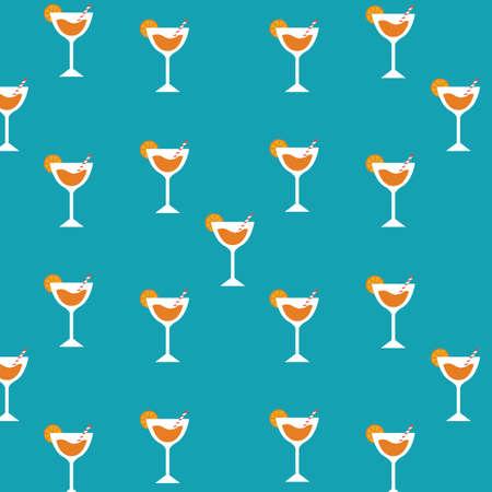 orange juice pattern background