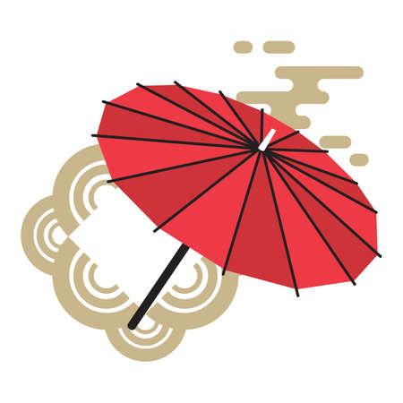 Japanse paraplu Stock Illustratie