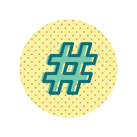 A hashtag icon illustration.