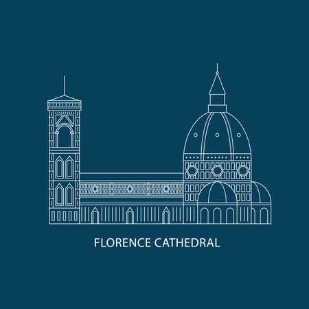 Kathedraal van Florence Stock Illustratie