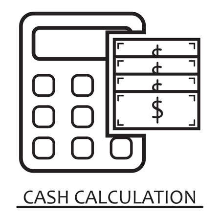 cash calculation Ilustração