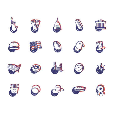 collection of us general icons