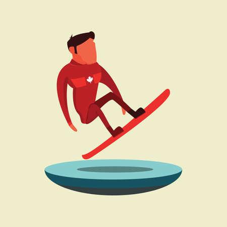 Man snowboarding Illusztráció