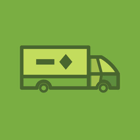 Icône de camion Banque d'images - 81534324