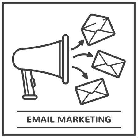 電子メール マーケティングの概念  イラスト・ベクター素材