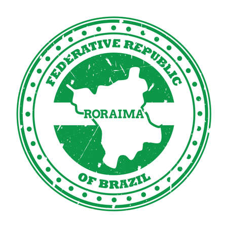 roraima map stamp