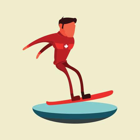 man snowboarden