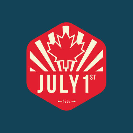 Happy canada day label