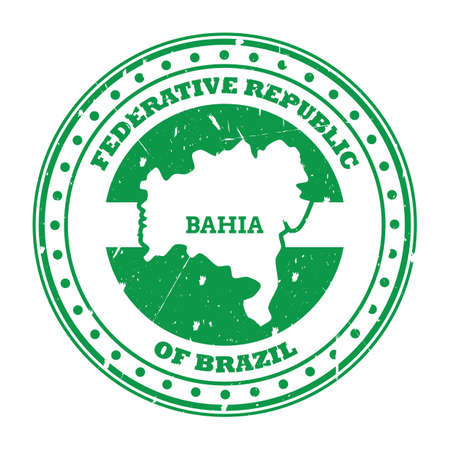 bahia map stamp