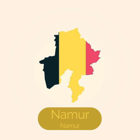Namur map Illustration