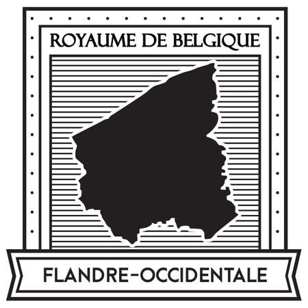 Flandre occidentale map