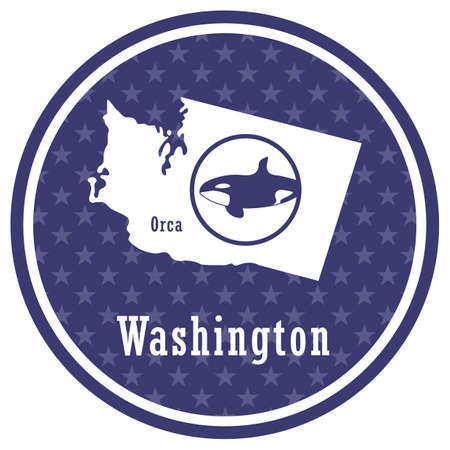 washington state map with orca