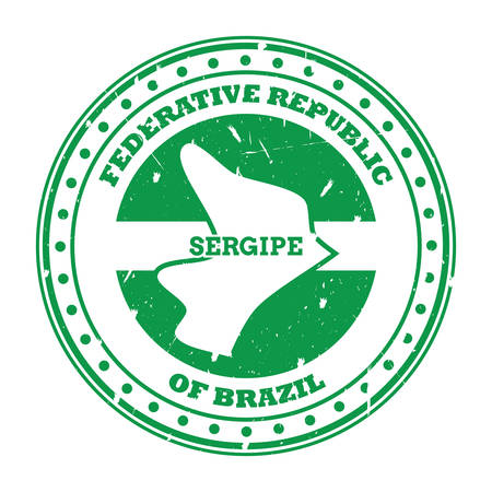 sergipe map stamp 向量圖像