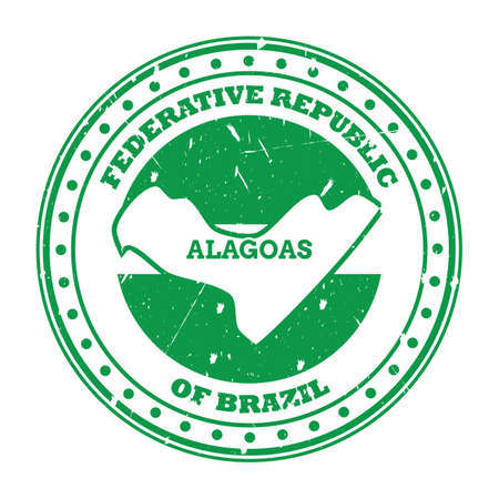 alagoas map stamp