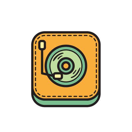 Icône de tourne-disque Banque d'images - 81483991