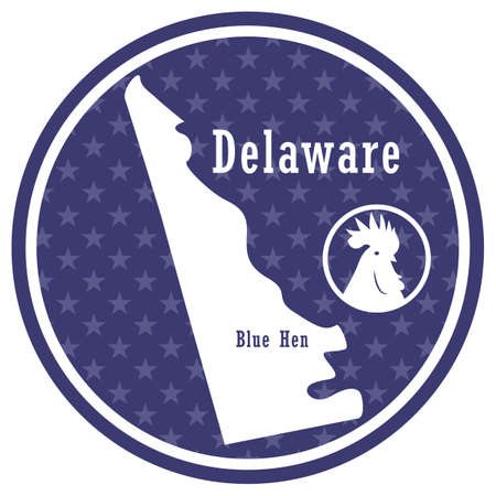 delaware state map with blue hen