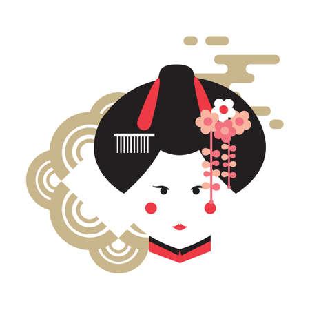 일본 게이샤 일러스트