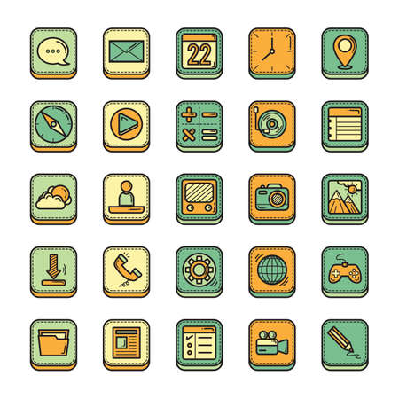 earth day: mobile icon set