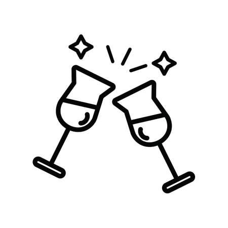 Weingläser Vektorgrafik